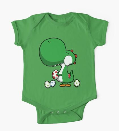 Egg Chuckin' Dinosaur One Piece - Short Sleeve