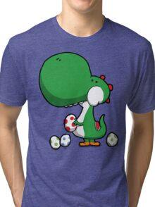 Egg Chuckin' Dinosaur Tri-blend T-Shirt