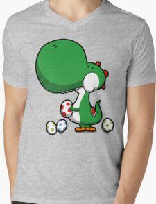 Egg Chuckin' Dinosaur Mens V-Neck T-Shirt