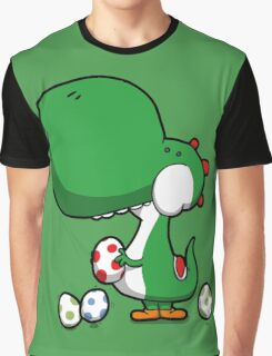 Egg Chuckin' Dinosaur Graphic T-Shirt
