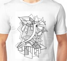 Angels Abstract hand drawn design Unisex T-Shirt