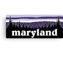 Purple Maryland Canvas Print