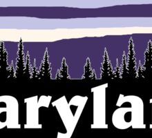 Purple Maryland Sticker