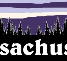 Purple Massachusetts Sticker