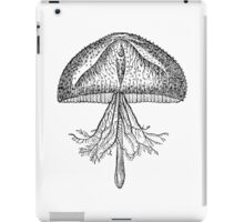 Vintage Jellyfish Illustration Retro 1800s Black and White Image iPad Case/Skin