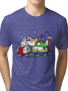 I see 'em up ahead. Let's rock 'n' roll! Tri-blend T-Shirt