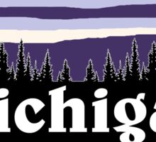 Purple Michigan Sticker