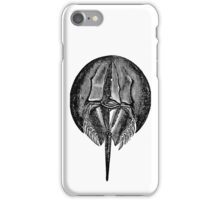 Vintage Horseshoe Crab Illustration Retro 1800s Black and White Image iPhone Case/Skin