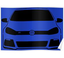 VW MK6 Golf R Front View Poster
