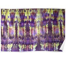 Indian Sunset Shibori Abstract Poster