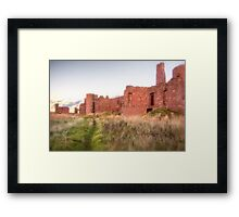 New Slains Castle Up Close (Cruden Bay, Aberdeenshire, Scotland) Framed Print