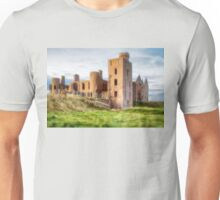 New Slains Castle Side View (Cruden Bay, Aberdeenshire, Scotland) Unisex T-Shirt