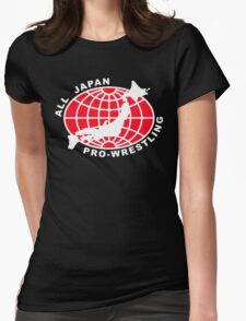 Classic Wrestling - All Japan Pro Wrestling AJPW Womens Fitted T-Shirt