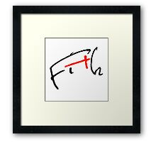 Fith Signature Framed Print
