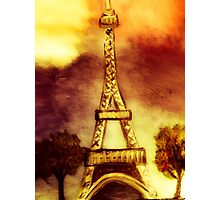 eifel tower (sepia) Photographic Print