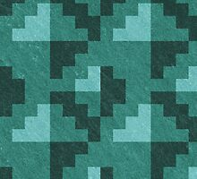 Green Diamond Pixels by likelikes