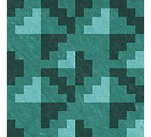 Green Diamond Pixels Photographic Print