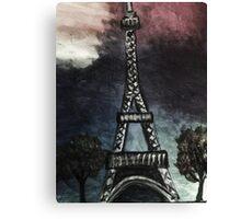 eiffel tower (dark) Canvas Print