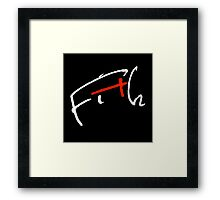 Fith Signature black Framed Print