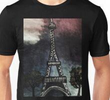 eiffel tower (dark) Unisex T-Shirt