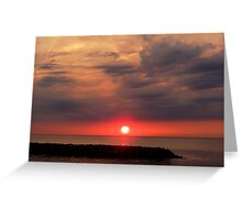 Sunset on the Lake - Erie, PA Greeting Card