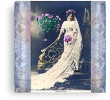 Vintage Bride Canvas Print