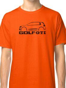 VW Golf GTI silhouette Black Classic T-Shirt