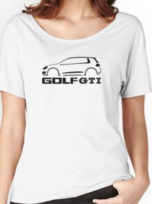 VW Golf GTI silhouette Black Women's Relaxed Fit T-Shirt