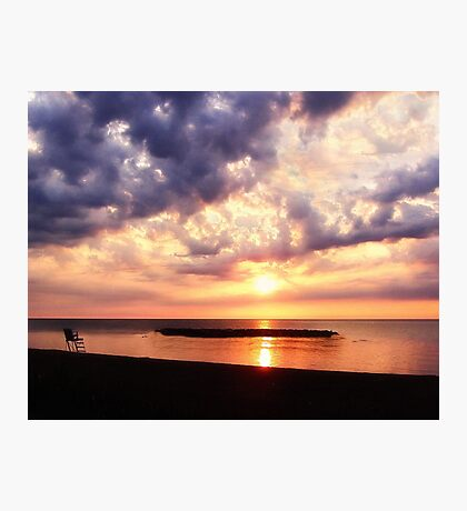 Lake Erie Sunset - Erie, PA Photographic Print