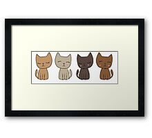 4 Little Kittens Framed Print