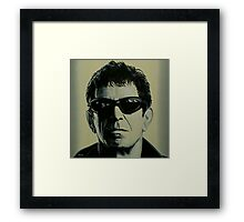 Lou Reed Painting Framed Print