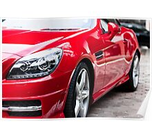 RED MERCEDES BENZ Poster