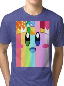 Kirby and his many faces Tri-blend T-Shirt