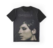 Barbra Streisand Promo Poster / Mixed Media Graphic T-Shirt