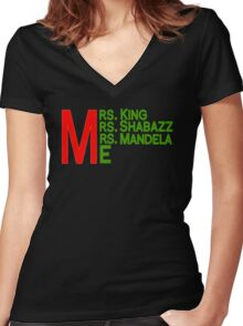 Mrs. and Me Women's Fitted V-Neck T-Shirt