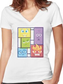 Composition of Emotions Women's Fitted V-Neck T-Shirt