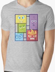 Composition of Emotions Mens V-Neck T-Shirt
