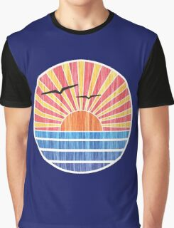 Retro Ocean Sunset Graphic T-Shirt