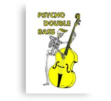 Psychobilly double bass Canvas Print