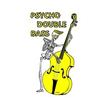 Psychobilly double bass Photographic Print