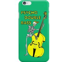 Psychobilly double bass iPhone Case/Skin