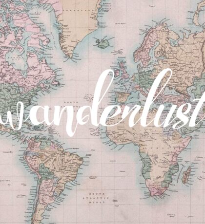 Wanderlust Travel Sticker