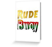 Jamaican Rude Bwoy Greeting Card