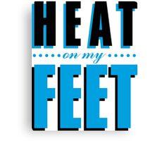 Heat on my Feet - Blue Canvas Print