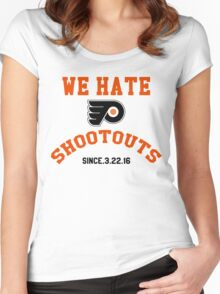 WE HATE SHOOTOUTS Women's Fitted Scoop T-Shirt