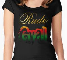 Jamaican Rude Gyal Women's Fitted Scoop T-Shirt