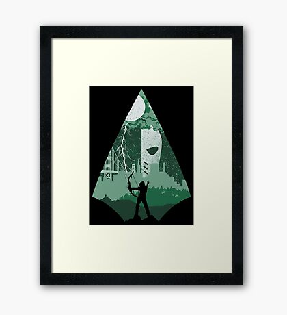 Arrow Deathstroke Framed Print