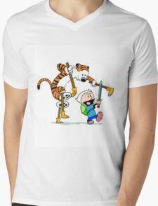 adventure time calvin hobbes Mens V-Neck T-Shirt