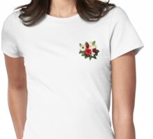 Paper Quilled Floral  Womens Fitted T-Shirt