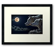 Mytical Wolves  Framed Print